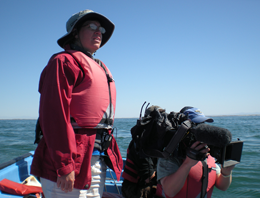 xCREW CandC naturalist Ceci Fischer and Photographer Kevin Ely shooting whales photo Michael Harris